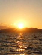 三河湾の夕陽